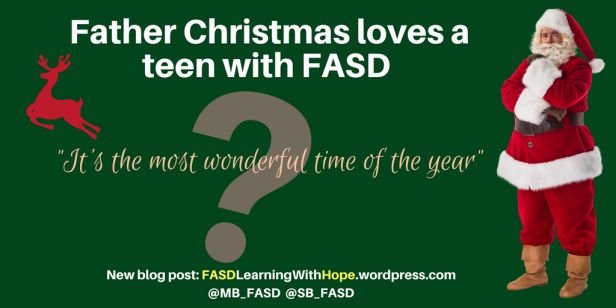 Blog Father Christmas loves a teen with FASD